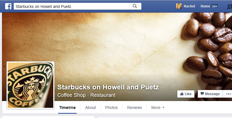 Starbucks Facebook Location LP