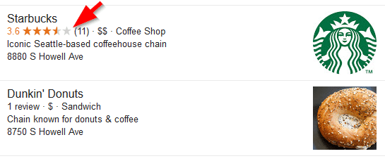 Starbucks Google My Business Reviews