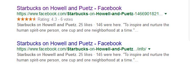 Starbucks Howell & Puetz - Google Search FB Listing