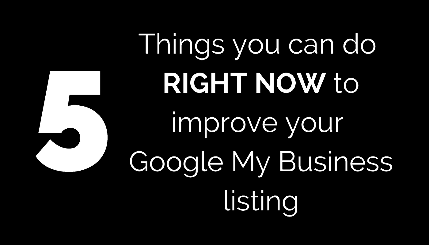 5 Tips for Google My Business